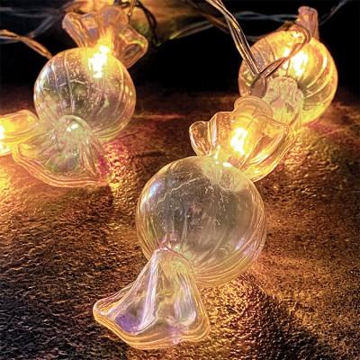Καραμέλες σε γιρλάντα 150cm-10leds σε θερμό φως