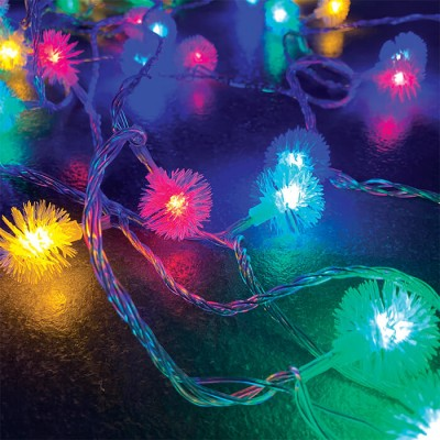 Νιφάδες σε γιρλάντα 750cm διάφανη-50leds σε διάφορα χρώματα φωτός