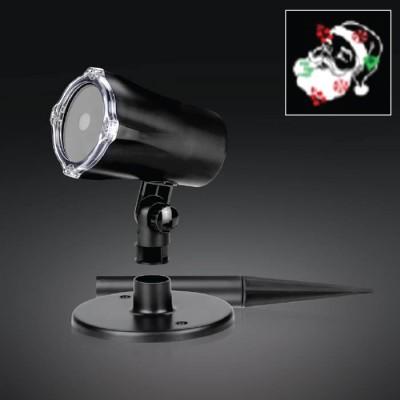 Στεγανός προτζέκτορας LED  με περιστροφική προβολή-Μοτίβο Άγιος Βασιλής