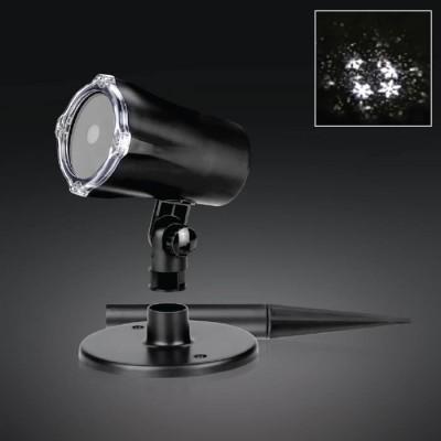 Στεγανός προτζέκτορας LED  με περιστροφική προβολή-Μοτίβο νιφάδες