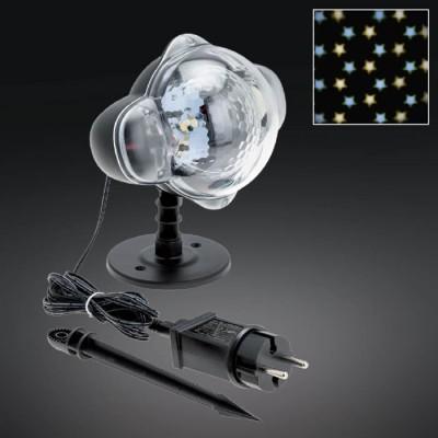 Στεγανός προτζέκτορας LED  με κάθετη περιστροφική προβολή-Μοτίβο αστέρια