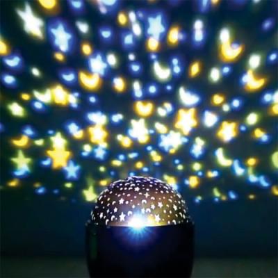 Προτζέκτορας δωματίου LED με μπαταρίες-Μοτίβο αστέρια και φεγγάρια