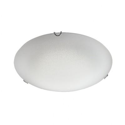 Φωτιστικό οροφής δίφωτο Ø30cm γυάλινο με μοτίβο