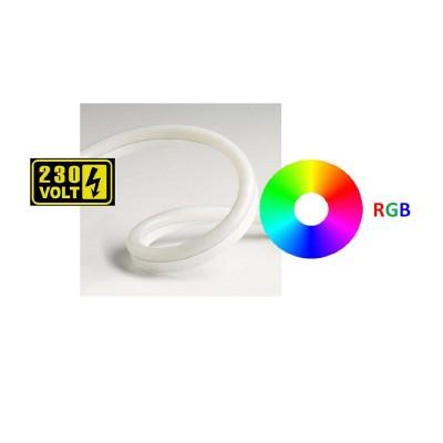 Ταινία LED Dimmable RGB 230V 8W στεγανή IP65 κοπή ανά μέτρο