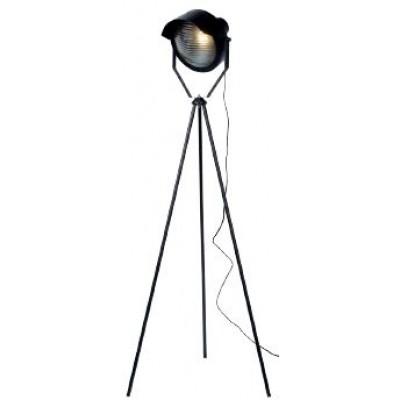 Μαύρο Industrial φωτιστικό δαπέδου 154cm μαύρο με προβολέα