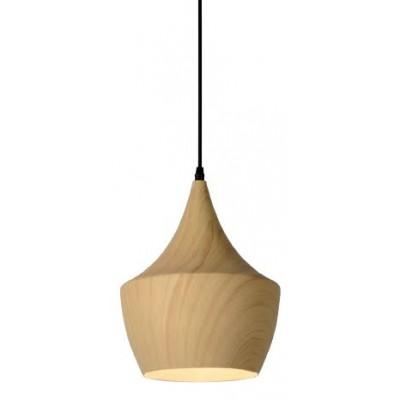 Κρεμαστό μεταλλικό φωτιστικό Ø24cm σε χρώμα ανοιχτού ξύλου