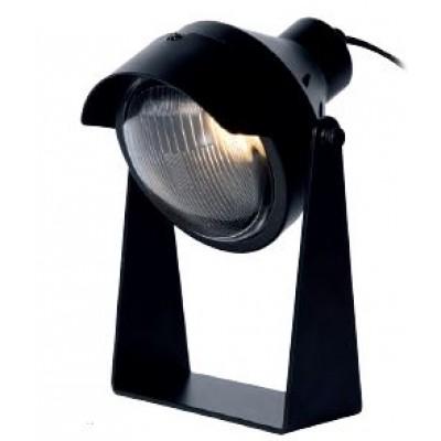 Μαύρο Industrial φωτιστικό γραφείου 20cm με προβολέα