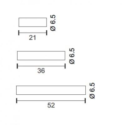 Γυάλινη απλίκα Ø6.5cm με ντουί Ε14