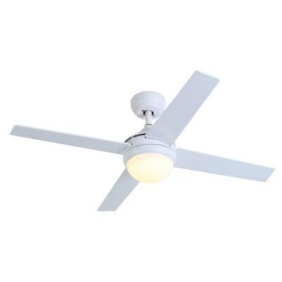 Λευκός ανεμιστήρας με ξύλινα πτερύγια Ø122cm LED