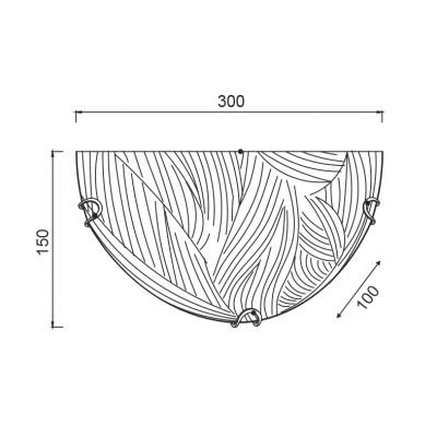 Απλίκα με μοτίβο στο γυαλί ACA