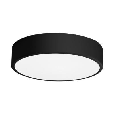 Πλαφονιέρα οροφής LED 21W Ø30cm μαύρη