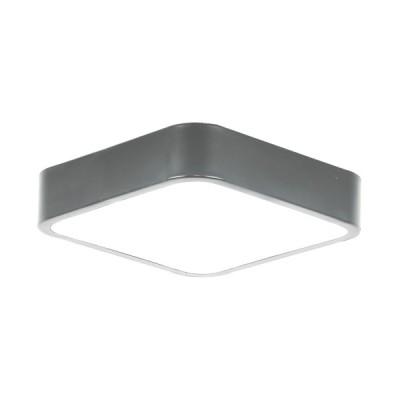 Πλαφονιέρα οροφής LED 21W 30x30cm γκρι