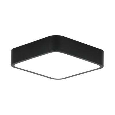 Πλαφονιέρα οροφής LED 21W 30x30cm μαύρη