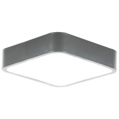 Πλαφονιέρα οροφής LED 24W 40x40cm γκρι