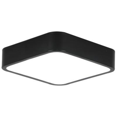 Πλαφονιέρα οροφής LED 24W 40x40cm μαύρη