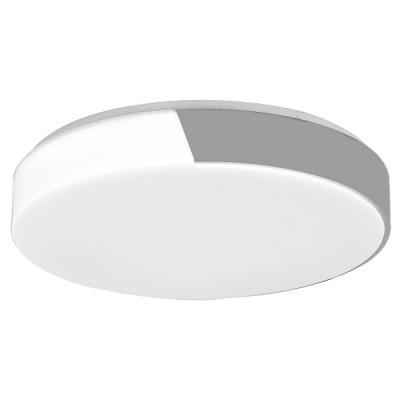 Πλαφονιέρα οροφής LED Ø38cm με μισό μεταλλικό κάλυμμα γκρι