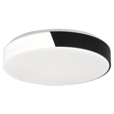 Πλαφονιέρα οροφής LED Ø38cm με μισό μεταλλικό κάλυμμα μαύρο