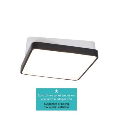 Κρεμαστό φωτιστικό LED 3000K τετράγωνο 38x38cm