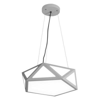 Πολυγωνικό γκρι κρεμαστό φωτιστικό LED Ø40cm