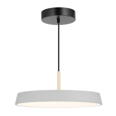 Κρεμαστό φωτιστικό LED με γκρι πιάτο Ø40cm