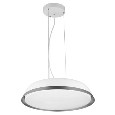 Κρεμαστό φωτιστικό LED με πιάτο Ø50cm λευκό-γκρι