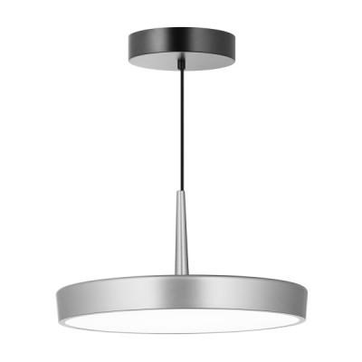 Κρεμαστό φωτιστικό LED με μεταλλικό πιάτο Ø40cm νίκελ