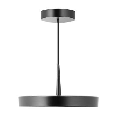Κρεμαστό φωτιστικό LED με μεταλλικό πιάτο Ø40cm μαύρο