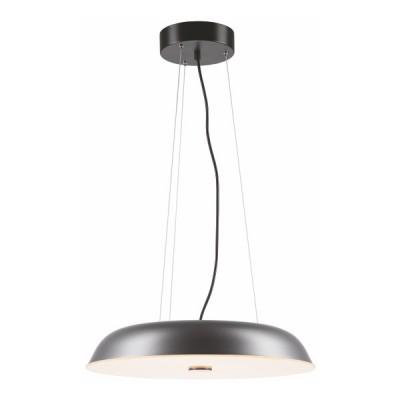 Κρεμαστό φωτιστικό LED με μεταλλικό πιάτο Ø50cm γκρι