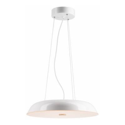Κρεμαστό φωτιστικό LED με μεταλλικό πιάτο Ø50cm λευκό