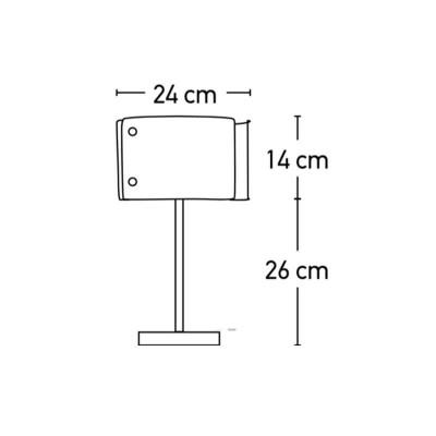 Μεταλλικό πορτατίφ 40cm με γυάλινες επιφάνειες