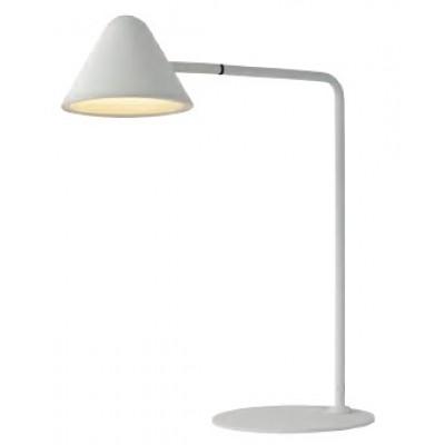 Λευκό φωτιστικό γραφείου 49cm LED με διακόπτη πάνω στην κεφαλή