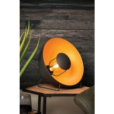 Επιτραπέζιο φωτιστικό με δίχρωμη καμπάνα Ø31x29cm