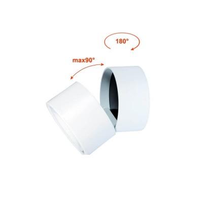 Λευκό περιστρεφόμενο σποτ οροφής LED dimmable Ø10cm