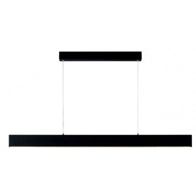Μαύρο κρεμαστό φωτιστικό γραμμικό 119cm LED dimmable