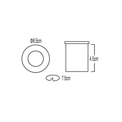 Στεγανό χωνευτό σποτ μεταλλικό με γυαλί Ø8.5cm