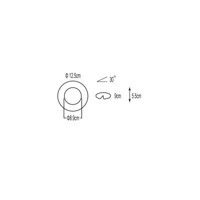 Χωνευτό σποτ μεταλλικό λευκό GU10 Ø12.5cm