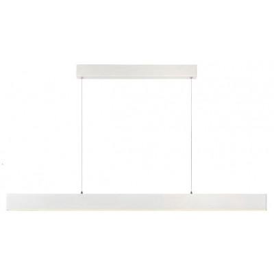 Λευκό κρεμαστό φωτιστικό γραμμικό 119cm LED dimmable