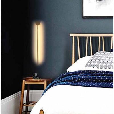 Φωτιστικό τοίχου LED μεταλλικό slim γραμμικό 80cm