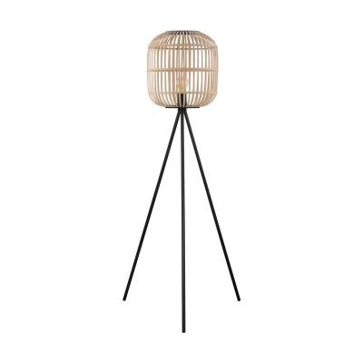 Τρίποδο δαπέδου 139cm με ξύλινο καλάθι Ø35cm