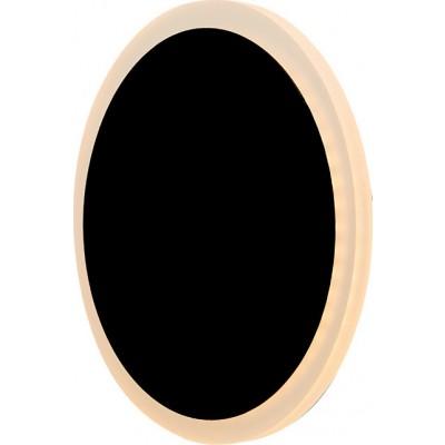 Μαύρη μεταλλική απλίκα LED Ø18cm από αλουμίνιο και ακρυλικό
