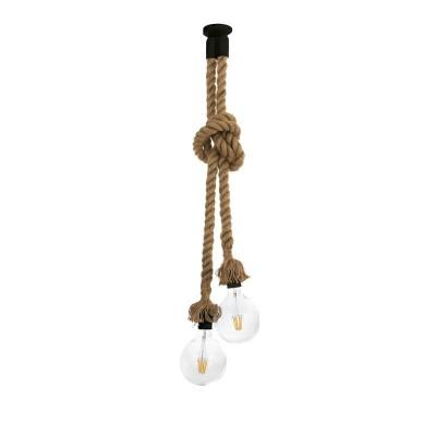 Δίφωτο κρεμαστό με αναρτήσεις από διπλό σχοινί 160cm