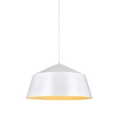 Λευκή καμπάνα Ø56cm εσωτερικά κίτρινη