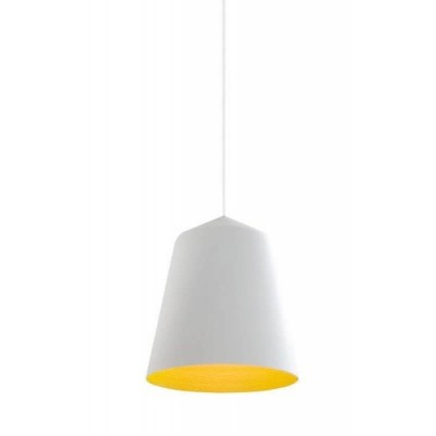 Λευκή καμπάνα Ø36cm εσωτερικά κίτρινη