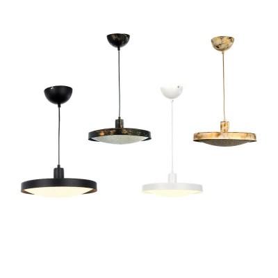 Κρεμαστό φωτιστικό LED με μεταλλικό πιάτο και ακρυλικό κάλυμμα