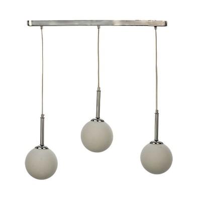 Ράγα 55cm με τρεις γυάλινους γλόμπους Ø13cm