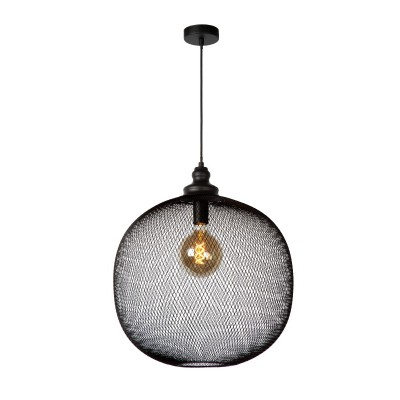 Κρεμαστό στρογγυλό φωτιστικό Ø50cm με λεπτό μεταλλικό δίχτυ