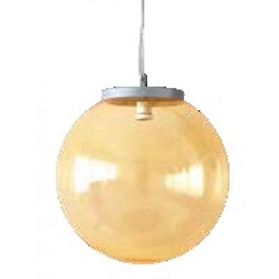 Μοντέρνο στεγανό κρεμαστό φωτιστικό χρωματιστή μπάλα Φ20cm