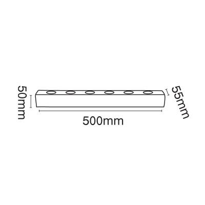 Εξάφωτη απλίκα καθρέφτη 50cm