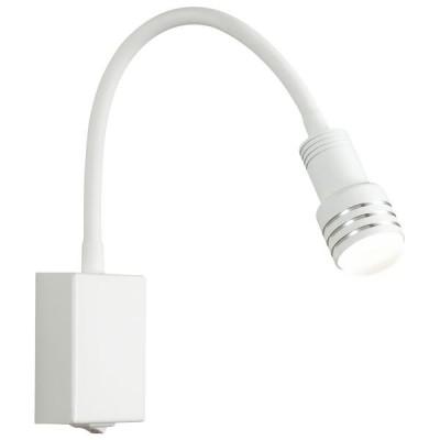 Εύκαμπτη απλίκα LED reading 43cm λευκό με ασημί