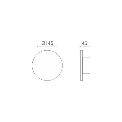 Απλίκα LED περιμετρικού φωτισμού στρογγυλή φλατ Ø14cm